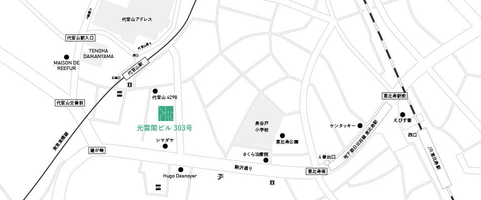 bio daikanyama map